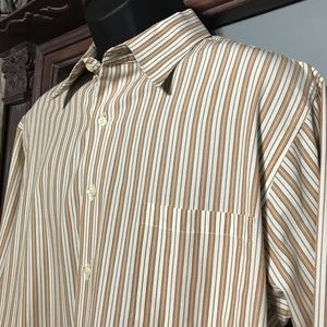 Geoffrey Beene XL men's striped dress shirt